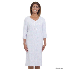 SIL260011802 - SilvertsWomens Soft Cotton Knit Hospital Gowns