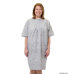 SIL262500303 - SilvertsWomens Pretty Cotton Hospital Patient Gowns