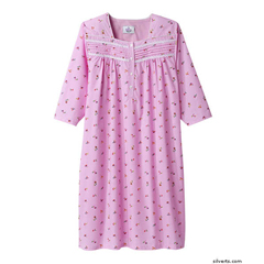 SIL263210702 - SilvertsPretty Cotton Hospital Nightgown