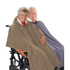 SIL270000601 - Silverts - Wheelchair Poncho Lined Cape