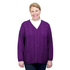 SIL270800902 - Silverts - Adaptive Open Back Warm Weight Cardigan Sweater With Pockets