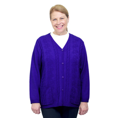 SIL270801705 - SilvertsAdaptive Open Back Warm Weight Cardigan Sweater With Pockets