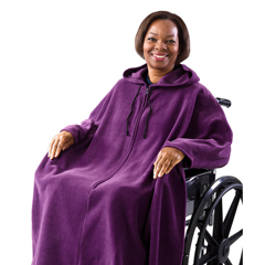 SIL271000501 - Silverts - Wheelchair Poncho Fleece Capes