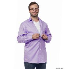 SIL400000505 - Silverts - Arthritis & Parkinsons Mens Magnetic Closing Shirts