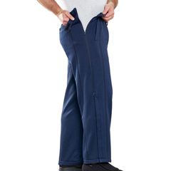 SIL413000103 - Silverts - Mens Zipper Pants For Arthritis, Catheters & Paralysis