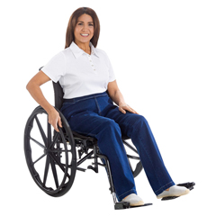 SIL470010102 - Silverts - Womens Designer Open Wheelchair Jeans