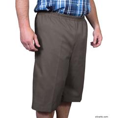 SIL500400102 - Silverts - Mens Elastic Waist Cotton Adaptive Shorts