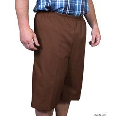 SIL500400403 - Silverts - Mens Elastic Waist Cotton Adaptive Shorts