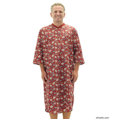 SIL500511702 - Silverts - Mens Adaptive Cotton Hospital Patient Nightgowns