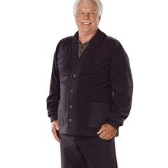 SIL500700304 - Silverts - Adaptive Fleece Cardigan With 2 Pockets