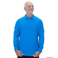 SIL507810101 - Silverts - Adaptive Polo Shirt Top For Men