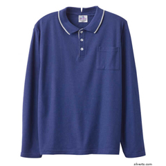 SIL507810402 - Silverts - Adaptive Polo Shirt Top For Men
