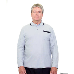 SIL507810602 - Silverts - Adaptive Polo Shirt Top For Men