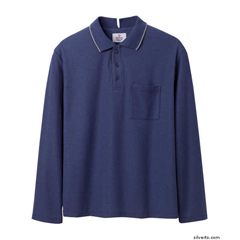 SIL507801404 - Silverts - Adaptive Polo Shirt Top For Men