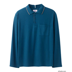 SIL507801504 - Silverts - Adaptive Polo Shirt Top For Men