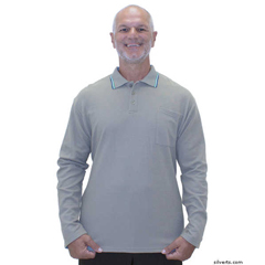 SIL507810302 - Silverts - Adaptive Polo Shirt Top For Men