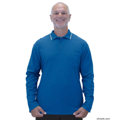 SIL507810802 - Silverts - Adaptive Polo Shirt Top For Men