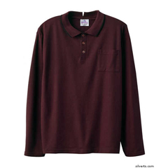 SIL507810901 - Silverts - Adaptive Polo Shirt Top For Men