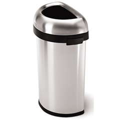 SIMCW1468 - Simplehuman60L (15 Gallon) Semi-Round Open Can Waste Receptacle