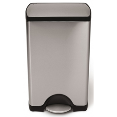SIMCW1814 - Simplehuman - 38L (10 Gallon) Rectangular Step Can Waste Receptacle