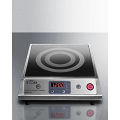 SMASINCFS1 - Summit Appliance - Portable Single Zone Induction Cooktop with Black Ceran™ Smooth-Top Finish