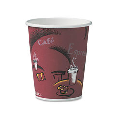 SLO370SIPK - Solo Paper Hot Drink Cups in Bistro® Design