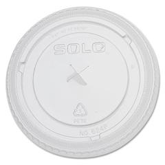SLO624TS - Solo PETE Plastic Flat Straw-Slot Cold Cup Lids