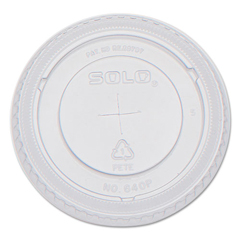 SLO640TS - Solo PETE Plastic Flat Straw-Slot Cold Cup Lids