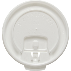 SLODLX8R - Solo Lift Back & Lock Tab Cup Lids For Trophy® Foam Hot/Cold Cups
