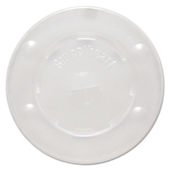SLOL12BLN - Solo Polystyrene Plastic Flat Straw-Slot Cold Cup Lids