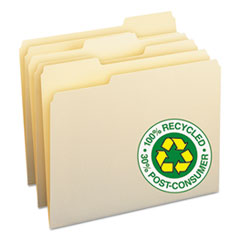 SMD10339 - Smead® 100% Recycled Manila Top Tab File Folders