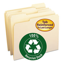 SMD10347 - Smead® 100% Recycled Reinforced Top Tab File Folders