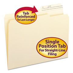 SMD10388 - Smead® Reinforced Guide Height File Folders