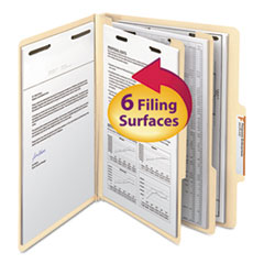 SMD14000 - Smead® Manila Four- and Six-Section Top Tab Classification Folders