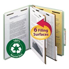 SMD14023 - Smead® 100% Recycled Pressboard Classification Folders