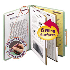 SMD14076 - Smead® Pressboard Classification Folders with SafeSHIELD™ Coated Fasteners
