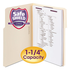 SMD14575 - Smead® Extra-Capacity Manila Fastener Folders With SafeSHIELD® Coated Fasteners