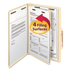 SMD18700 - Smead® Manila Four- and Six-Section Top Tab Classification Folders