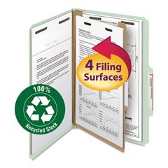 SMD18722 - Smead® 100% Recycled Pressboard Classification Folders