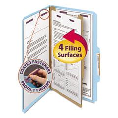 SMD18730 - Smead® 4-Section Pressboard Top Tab Classification Folders w/SafeSHIELD™ Coated Fastener