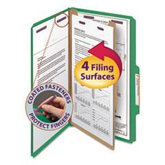 SMD18733 - Smead® 4-Section Pressboard Top Tab Classification Folders w/SafeSHIELD™ Coated Fastener
