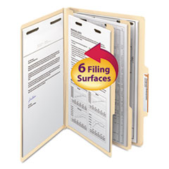 SMD19000 - Smead® Manila Four- and Six-Section Top Tab Classification Folders