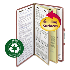 SMD19023 - Smead® 100% Recycled Pressboard Classification Folders