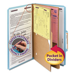 SMD19081 - Smead® 6-Section Pressboard Top Tab Pocket-Style Classification Folders with SafeSHIELD™ Coated Fastener