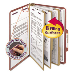 SMD19092 - Smead® Pressboard Classification Folders with SafeSHIELD™ Coated Fasteners