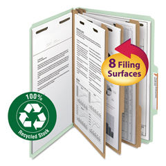 SMD19093 - Smead® 100% Recycled Pressboard Classification Folders