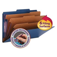 SMD19096 - Smead® Colored Pressboard 8-Section Top Tab Classification Folders with SafeSHIELD™ Coated Fastener