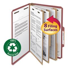 SMD19099 - Smead® 100% Recycled Pressboard Classification Folders