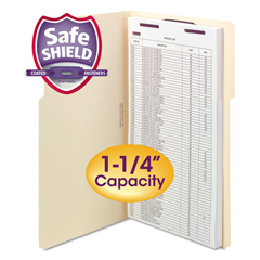 SMD19575 - Smead® Extra-Capacity Manila Fastener Folders With SafeSHIELD® Coated Fasteners