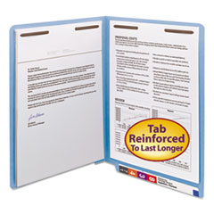 SMD25040 - Smead® Heavyweight Colored End Tab Folders with Fasteners